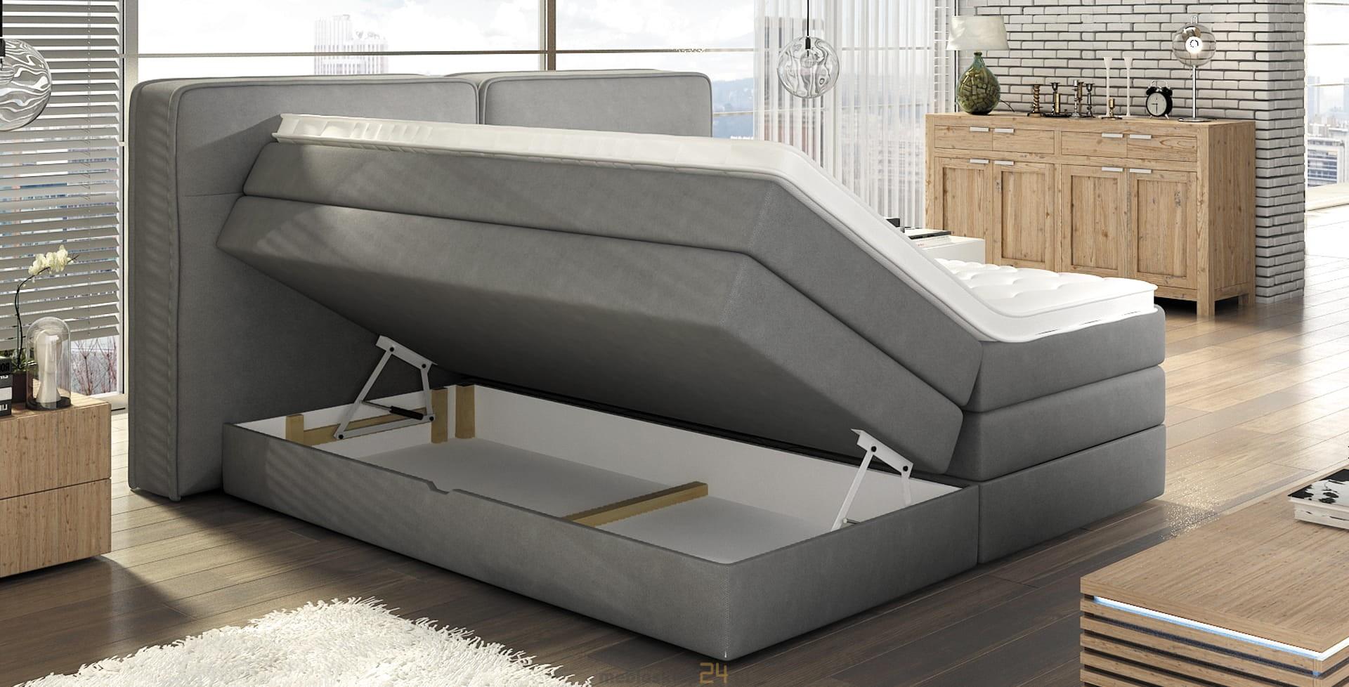 Tapicerowane łóżko Sypialniane Falun Top Kaltschaum
