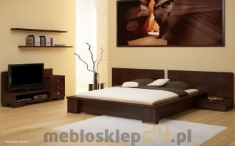 Bukowe łóżko I Komoda Do Sypialni Lorenzo