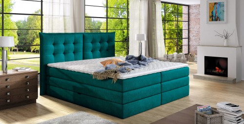 Tapicerowane łóżko Sypialniane Fendy Top Komfortschaum